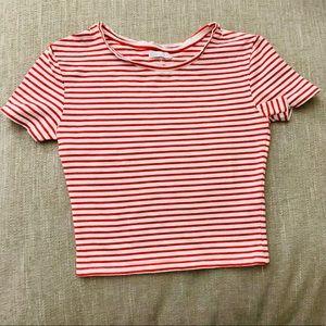 Zara Stripped Fitted Crop Top